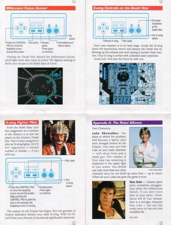 NES Star Wars Manual